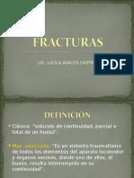 Fracturas externas e Internas.