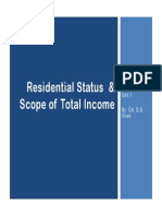 PPT on Residential Status and Scope of Total Income