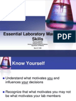 Essential Laboratory Management Skills