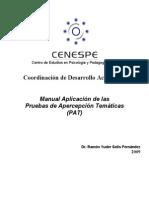 Ramón Yuder Solís Fernández. Manual Aplicación de Las Pruebas de Apercepción Temáticas PAT