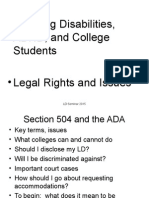 Legal Rights and Court Cases 504 ADA