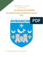 festival Les Éclats de Rire 2015 à Avranches