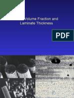 Laminate Thickness and Vf