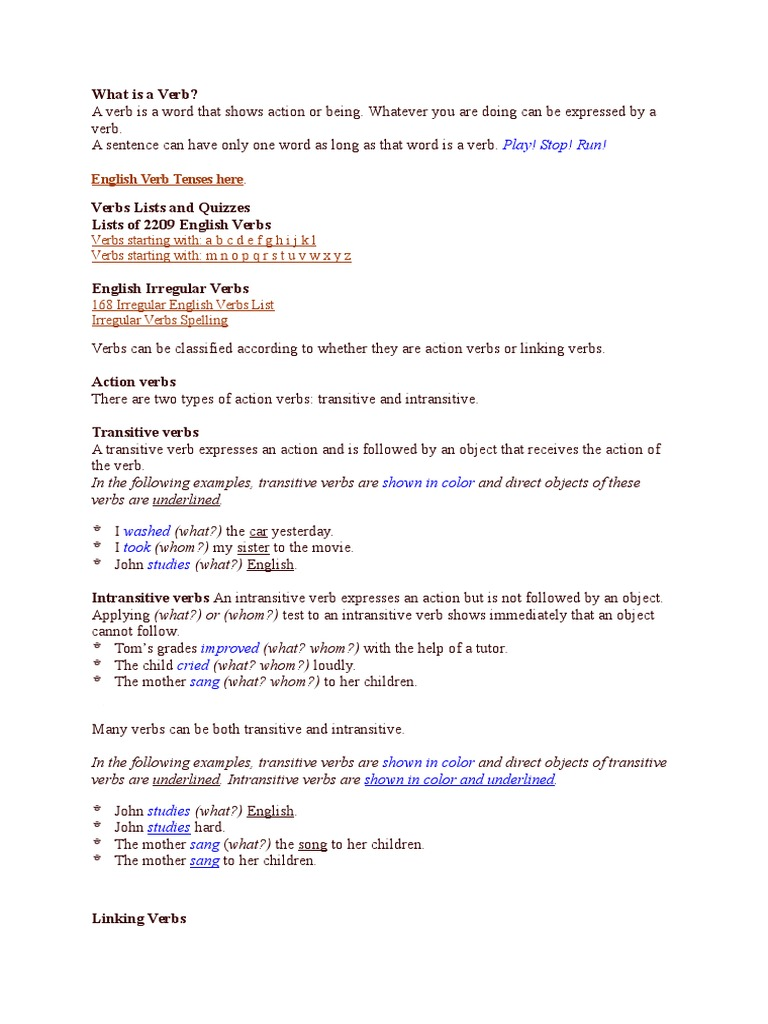 Workbooks transitive and intransitive verbs worksheets : Workbooks » Linking Verbs Worksheets - Free Printable Worksheets ...