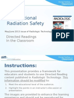 Occupational Radiation Safety