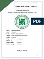 Informe 8 de Hidraulica