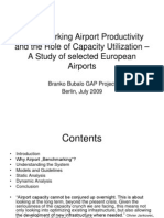 Benchmarking Airport Productivity and the Role of Capacity - A Study of Selected European Airports - Presentation