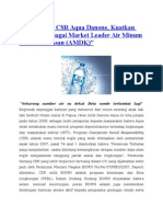 Kesuksesan CSR Aqua Danone