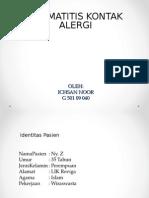 Refleksi Kasus Dermatitis Kontak Alergi