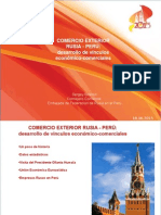 Comercio Exterior Perú- Rusia
