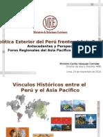 Política Exterior del Perú frente al Asia Pacifico