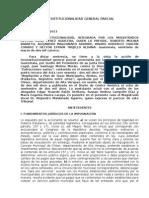 INCOSTITUCIONALIDAD GENERAL PARCIAL