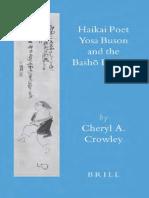 Haikai Poet, Yosa Buson and the Basho Revival