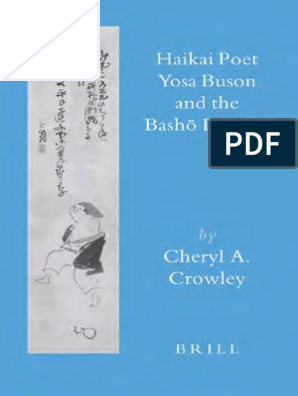 Haikai Poet Yosa Buson And The Basho Revival Haiku Poetry