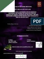 Proyecto de Norma Mexicana Proy-nmx-Aa-028/1-Scfi-2008 AnÁlisis De