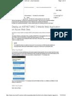 ASP.Net Mvc 5 Mobile