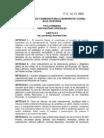 Reglamento Bando de Policia y Gobierno Para El Municipio de