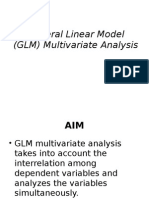 GLM Multivariate Analysis (Presentation 4) Adv Stat