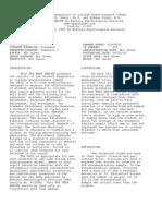 SACQ Sample Test Report