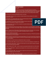 Major Foundations of Curriculum