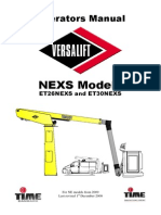 Versalift_LEXS Operators Manual 2009