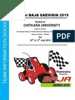 Virtual BAJA SAEINDIA 2015_Information_Docket