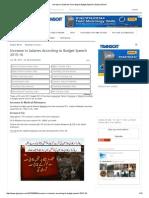 Increase in Salaries According to Budget Speech _ Galaxy World