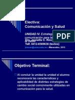 Rincón-Morales, J - Electiva Comunicación y Salud - Unidad IV - Estrategias de Comunicación
