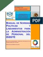 Manual Normas Politicas Lineamientos Administracion Personal Issste