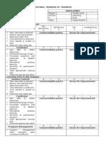Form D.2 NEAP Daily Session - Facilitator Form