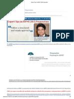 Expert Tips on AIPMT 2015 Preparation