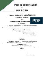 Abbé Guillaume OEGGER Philosophie du Christianisme 1852