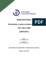 Estudi Periodistas y Redes Sociales en España