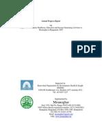 annual progress report to bodhi mg  april 2014 - march 2015