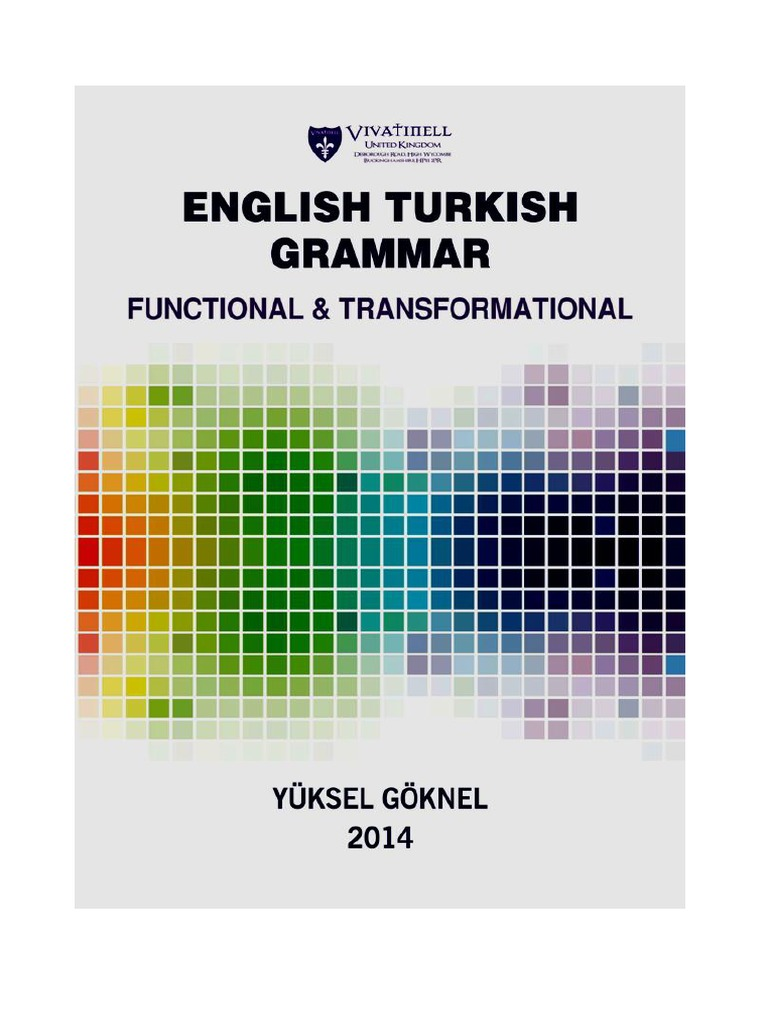 Contrastive english and turkish grammar yuksel goknel verb contrastive english and turkish grammar yuksel goknel verb predicate grammar fandeluxe Images
