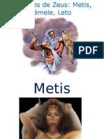 Amores de Zeus Metis Sémele Leto