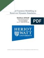 Induced Fractures Modelling in Reservoir Dynamic Simulators