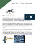 Hosting, Alojamiento Web Linux Y Windows. Hosting Espana Arsys