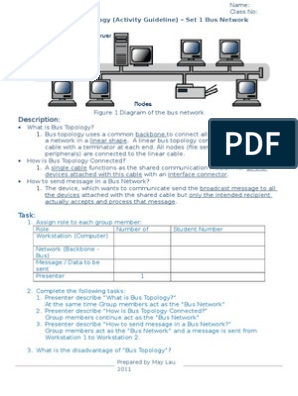 activity sheet for network topology doc | Network Topology