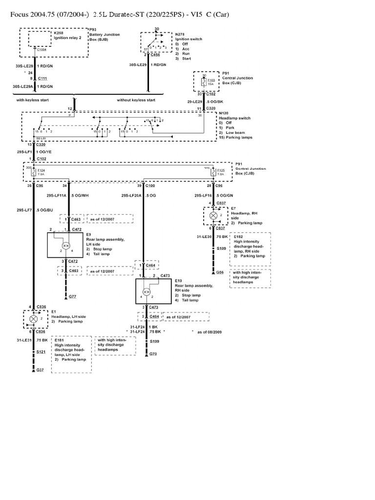 ford focus mk2 headlight switch wiring diagram | vehicles | car body styles  scribd