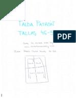 Patron Base Falda 46 52