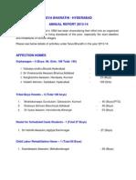 Seva Bharathi Annual Report 2013-2014