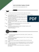 Comprehensive Food Facility Compliance Checklist