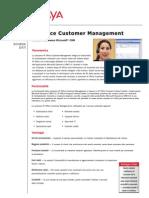 Avaya Customer Management