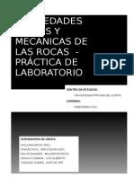 PROPIEDADES FISICAS Y MECANICAS DE LAS ROCAS  - PRÁCTICA DE LABORATORIO