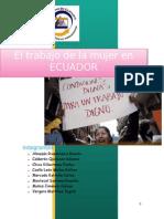 Trabajo de La Mujer en El ECUADOR