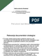 Politica Externa a Romaniei Curs 9 Documente Strategice