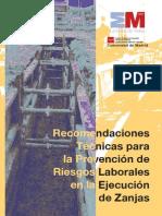 Recomendaciones Tecnicas Para La Prevencionón de Riesgos Laborales en La Ejecución de Zanjas