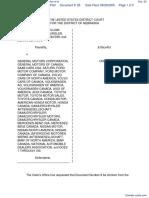 Melangagio et al v. General Motors Corporation et al - Document No. 26