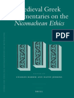 Charles Barber, David Jenkins Medieval Greek Commentaries on the Nicomachean Ethics Studien Und Texte